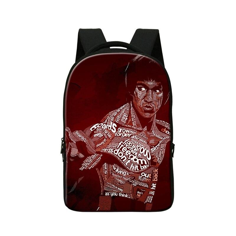 Bruce Lee Print school bags for teenagers, School Organizer Shoulder 14 Inch,Design Backpack, computer laptop backpack