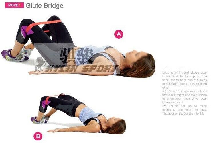 Купить с кэшбэком free  shipping Set of 3 combination latex resistance bands workout excercise pilates yoga bands loop wrist ankle elastic belt