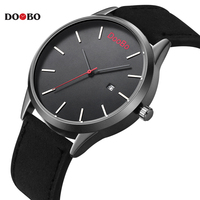 Fashion Casual Army Sport Top Brand Luxury Mens Watches Leather DOOBO Business Quartz Watch Men Wristwatch