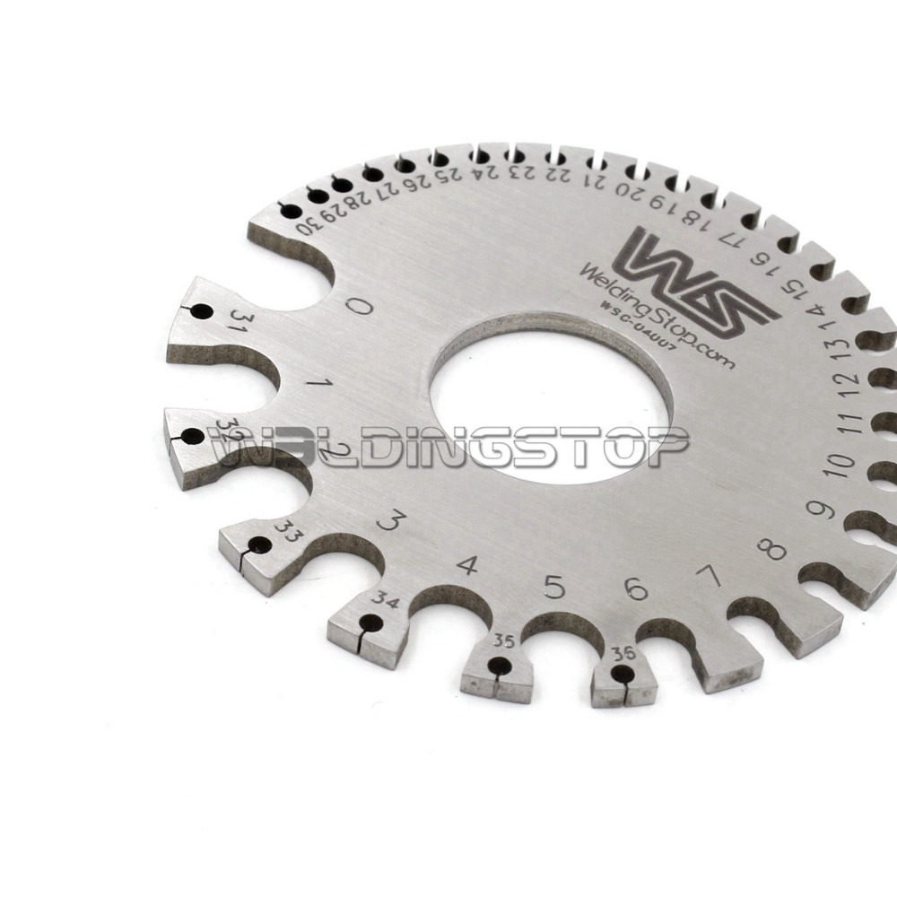 WS 04007 Round WIRE GAUGE diameter gage S.W.G. portable Mini Size-in ...