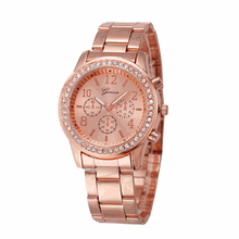Essential New Elegant Fashion Women's Bracelet Alloy WristWatch Jewelry Women Quartz Dress Watches