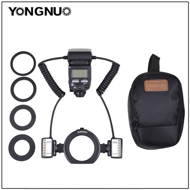 Yongnuo YN24EX E TTL Twin Lite Macro Flash Speedlite for Canon Cameras with Dual 2pcs Flash