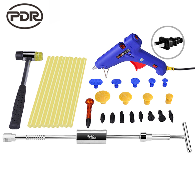 PDR Tools Kit Dent Removal Paintless Dent Repair Dent Puller Slide Hammer Glue Gun Glue Tabs Suction Cup Fungi Repair Tools pdr tools to remove dents car dent repair paintelss dent removal puller kit lifter removal glue tabs fungi sucker hand tool set