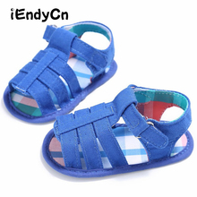 2017 Summer New Boys Soft Leather Sandals Baby  Shoes Sole Beach Children YD212