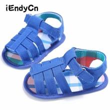 цена 2017 Summer New Boys Soft Leather Sandals Baby Boys  Shoes Soft Sole Leather Beach Children Sandals  YD212 онлайн в 2017 году