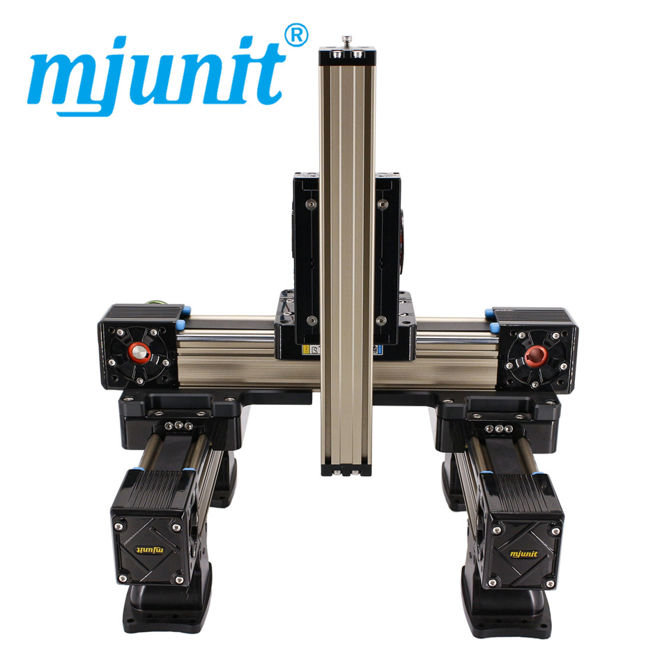 mjunit MJ60+MJ45 xyz Linear Actuator Belt Drive Unit linear rail with 600x400x400mm stroke length clementoni пазл hq бегущие кони 1000