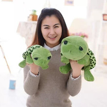 20-30 cm new arrived cartoon Big eyes green turtle plush toy tortoise Wedding dolls child gift cushion birthday pillow big size