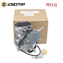ZSDTRP 33mm PD33J Motorcycle Carburetor Assembly Carb for 2001 2012 Big Bear 400 for Yamaha YFM350 YFM400 2x4 4x4 YFM450 4X4