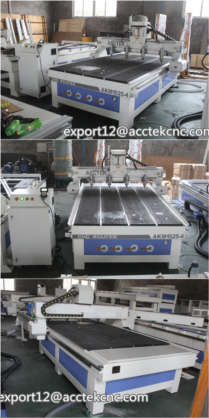AKM1525 4 3d wood engraving cnc router machine cnc machine ...