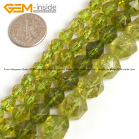 Faceted Peridot Crystal Beads For Jewelry Making 6 12mm 15inches DIY Jewellery FreeShipping Wholesale Gem Inside