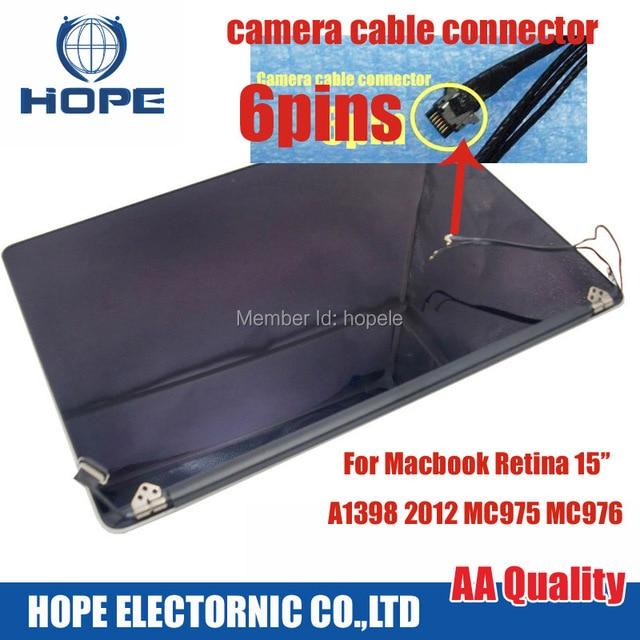Utiliza lcd full de pantalla para macbook pro 15 pulgadas a1398 mc975 mc976 asamblea de pantalla del lcd 2012 año 90% nuevo