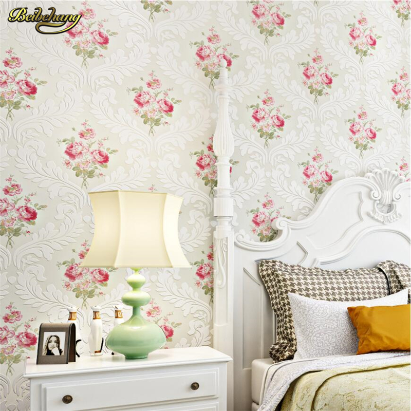 beibehang Nonwovens Wallpaper Continental Sakayin Pastoral papel de parede Bedroom Living Room Background Wall Warm and romantic