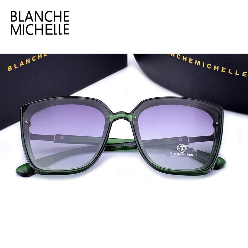 Image 5 - Blanche Michelle 2019 High Quality Cat Eye Polarized Sunglasses Women UV400 oculos Oversized Mirror Sun Glasses Brand With BoxWomens Sunglasses   -