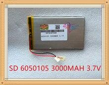 Grau de Energia Litros 3000 Mah 3.7 V de Alta Capacidade DA Bateria Polímero Lítio 6050105 Tablet PC Energia Móvel Levou