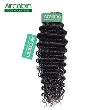 "100% Human Hair Bundles Deep Wave 1 Bundles Non-Remy Brazilian Hair Weaves Natural Color 8""-26"" Aircabin Hair Extensions"