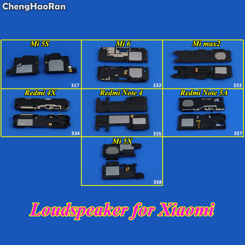 ChengHaoRan 1Piece Loudspeaker For Xiaomi Redmi 4X Note 4 5A Mi 5S 5X 6 Loud Speaker Buzzer Ringer Flex Replacement Parts