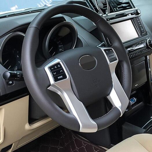 Car Steering Wheel Cover For Toyota Land Cruiser Prado 150 FJ150 2010 2011 2012 2013 2014 2015 2016 2017 2018 Accessories все цены