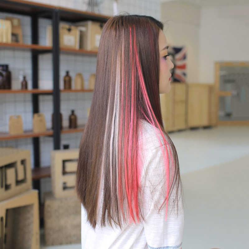 XUBCHC Новая мода 20 цветов модные волосы кусок волос Группа для волос, для маленькой девочки аксессуары Многоцветный парик для женщин украшения для волос