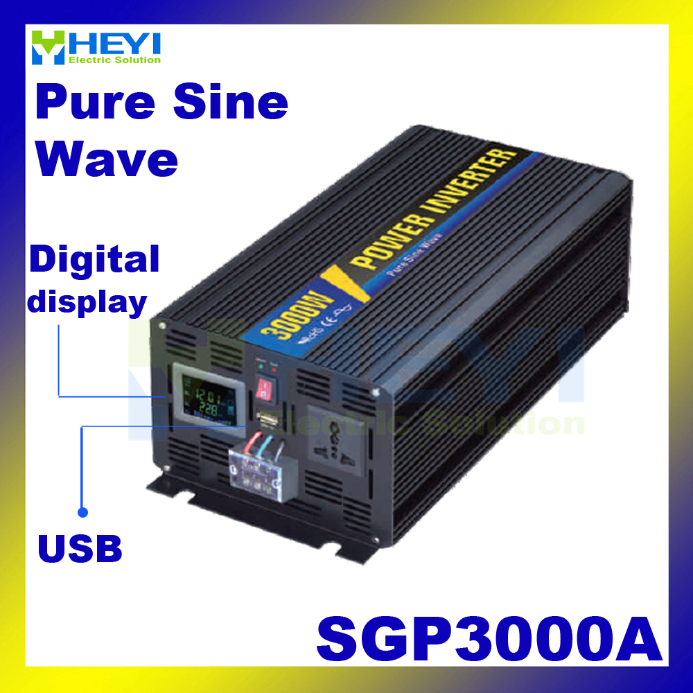 New Smart Series Pure Sine Wave Inverter 3000W with USB input 12VDC 24VDC 48VDC output 110VAC 220VAC solar micro inverter new lp2k series contactor lp2k06015 lp2k06015md lp2 k06015md 220v dc