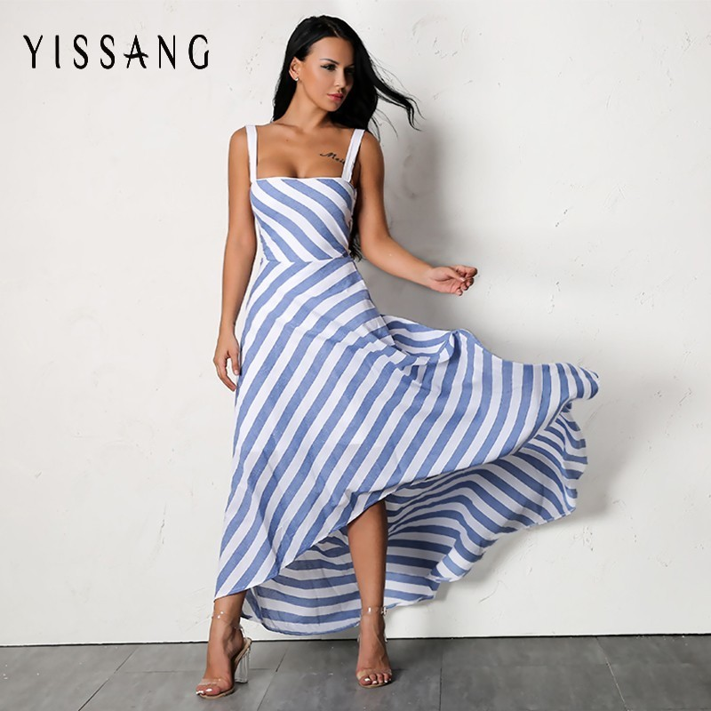 Yissang Sexy Striped Women Dress DHM683