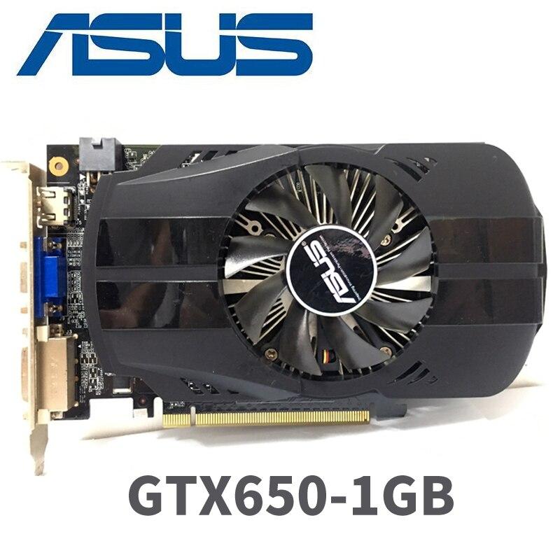 Asus GTX-650-FMLII-1GB GTX650 1 GB GTX 650 1G D5 DDR5 128 bits cartes graphiques pc de bureau PCI Express 3.0 cartes graphiques d'ordinateur