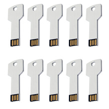 цены J-boxing Silver 10PCS USB Flash Pen Drive Key Shape Pendrives 1G 2G 4G Thumb Memory Stick USB Stick for PC Tablet Mac 8G 16G 32G