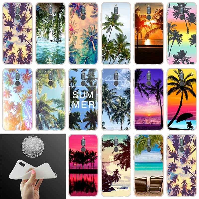 <font><b>silicone</b></font> <font><b>case</b></font> <font><b>Summer</b></font> beach Palm Tree For <font><b>Huawei</b></font> Mate 20 10 Lite 20 pro s Nova 3 4 3i y9 <font><b>y6</b></font> y5 y7 pro 2019 <font><b>2018</b></font> 2017 20X Cover image