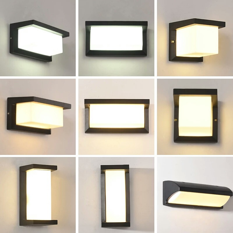 Led Wall Lamp Outdoor Wall Light Waterproof Led Exterior Indoor Outdoor Lighting Outside Light Balcony Gate Garden Living Room