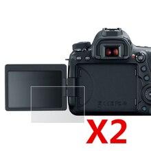 2 sztuk miękki ekran LCD folia plastikowa Protector dla Canon EOS 200D II 250D Rebel SL3 pocałunek X10 / 200D Rebel SL2 pocałunek X9 lustrzanka cyfrowa