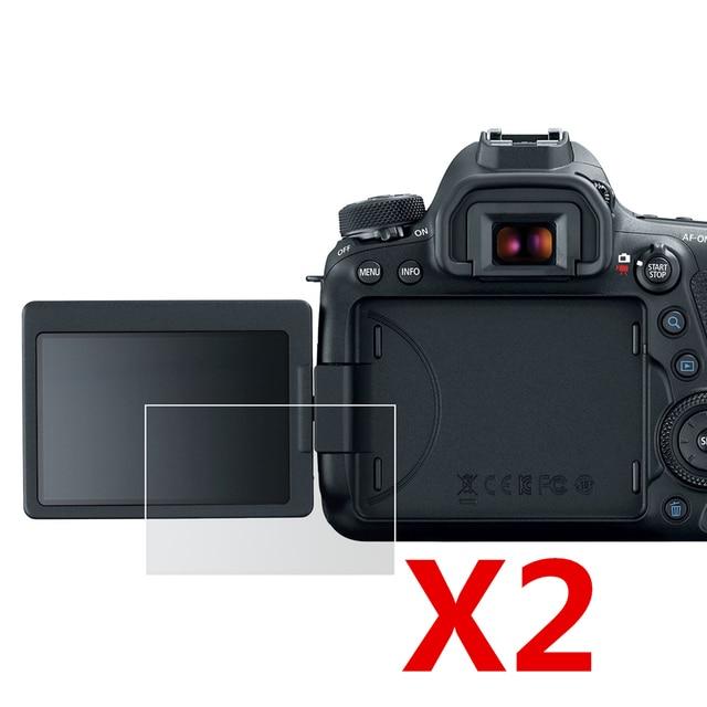 Protetor de filme plástico macio de tela lcd, 2 peças, para canon eos 200d ii 250d rebelo sl3 kiss x10/200d câmera rebela sl2 kiss x9 dslr