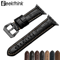 38mm 42mm Genuine Leather Watch Band Sport Loop Bracelet For Apple Watch 1 2 3 Watchband