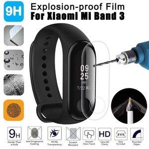 Image 1 - 2 adet ekran koruyucu Film patlamaya dayanıklı LCD TPU tam kapak ForXiao mi Mi Band 3 akıllı bileklik silika jel bilezik