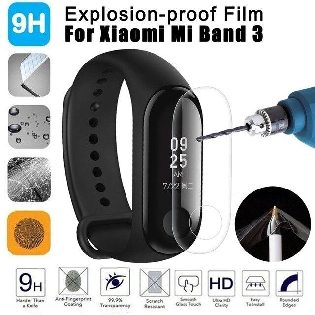 2 pièces Film de protection décran anti déflagrant LCD TPU couverture complète ForXiao mi Mi bande 3 Bracelet intelligent Bracelet de Gel de silice