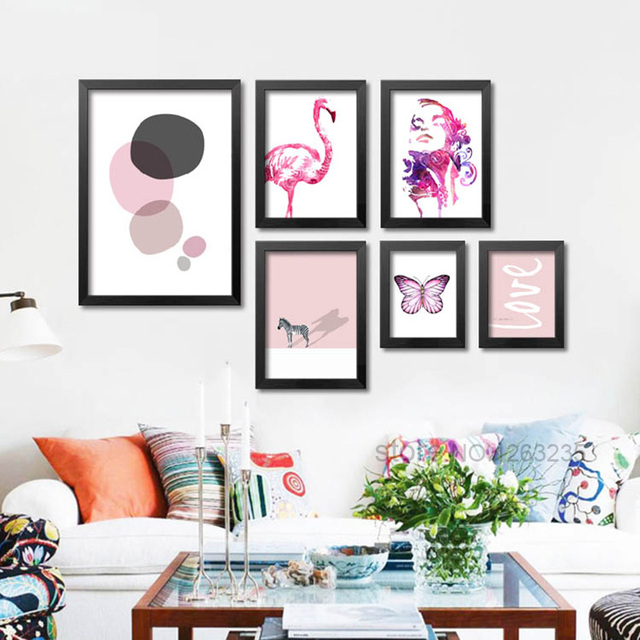 Posters And Prints Nordic Wall Pictures For Living Room Cuadros Canvas Art  Flamingo Wall Art Canvas Part 65