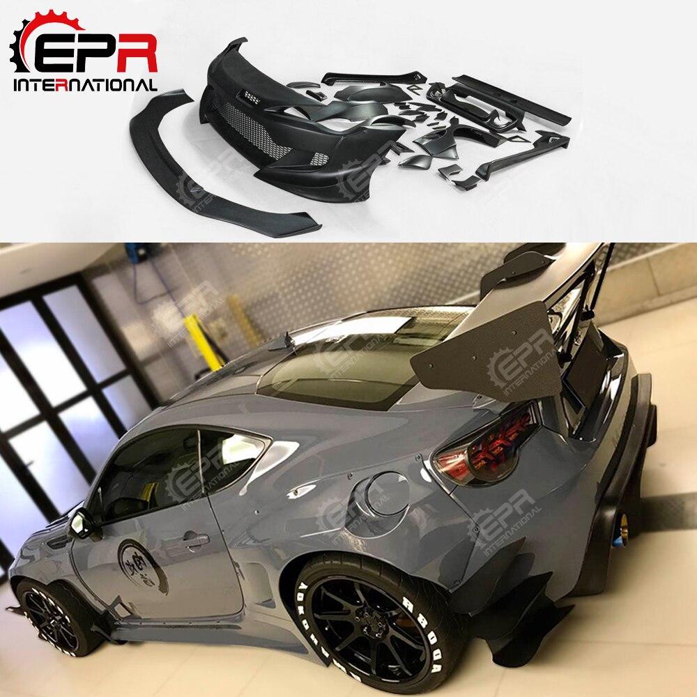 FRP Fiber Glass X Rocket Bunny BRZ/FR S Ver.3 Aero Kit Full Wide Body Kit Wider Bodykit Trim Fit For Toyota BRZ FT86 GT86 FRS