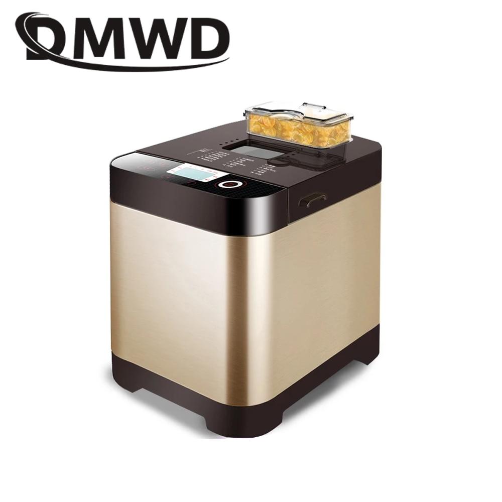 DMWD Automatic Electric Bread Maker Toaster Multifunction Breadmaker Cake Baking Machine Yogurt Fermenter Dough Beater Mixer EU