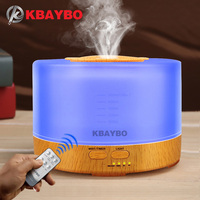 500ml Humidifier Remote Control Aroma Essential Oil Diffuser With 4 Timer Settings 7 Color Changing LED