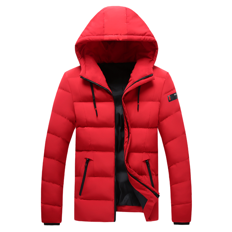 2018 Winter Men Jacket Coats Windproof Warm Cotton Padded Men Autumn Fleece Thicken Hooded Jacket Male Drop-ship Plus Size 8XL