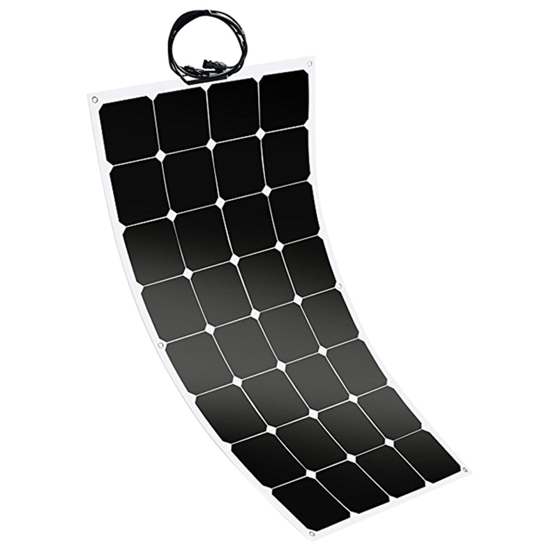 <font><b>100W</b></font> <font><b>12V</b></font> Flexible Sunpower <font><b>Solar</b></font> <font><b>Panel</b></font> Battery Charger For Car Rv Marine Boat image