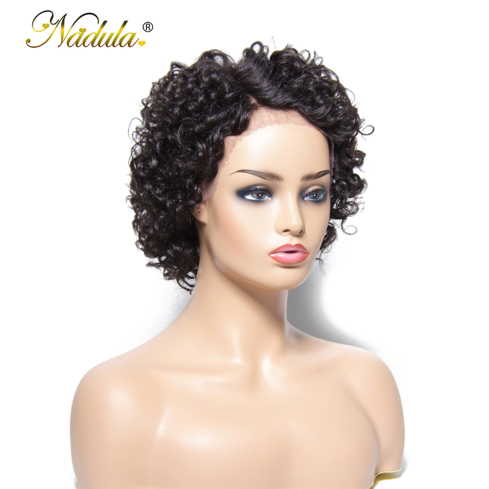 Nadula Hair Short Lace  Wigs  Deep Wave  Wigs   Hair Wigs #1 #2 #4 Natural Color 3