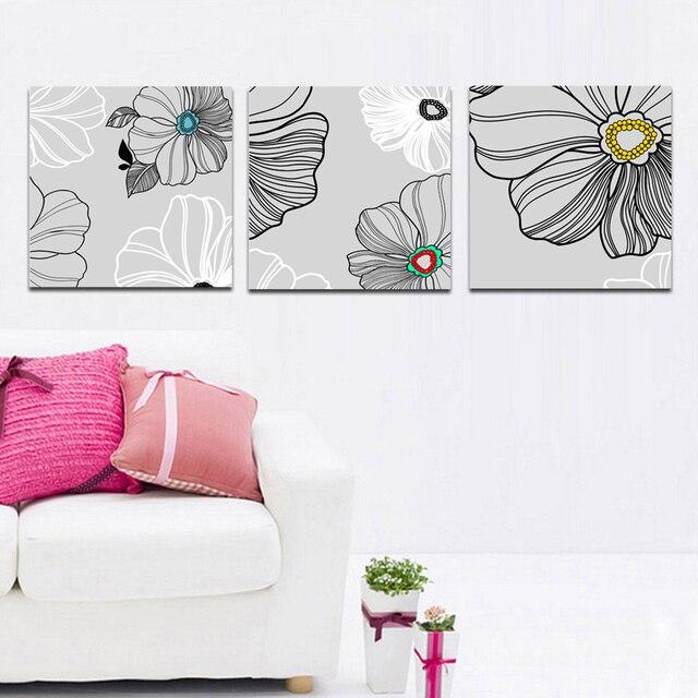 32 45 Plaine Conception Couleurs Fleurs Peinture Décorative Impression Peinture Pour Salon Moderne Décoration Articles Sur La Maison Dans Peinture