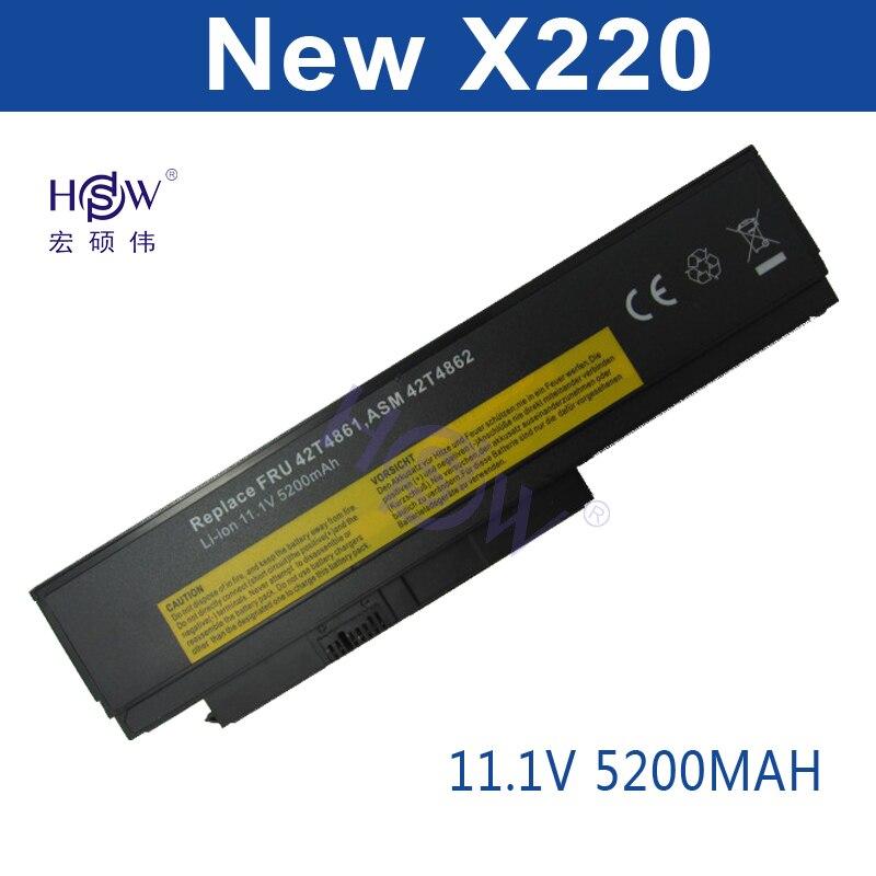 HSW batería del ordenador portátil para Lenovo ThinkPad X220 X220i X220s serie 0A36281 0A36282 0A36283 42T4861 42T4862 42T4863 42T4865 42T4901