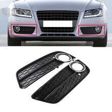 Новая пара переднего бампера Туман свет лампы Решетка Гриль Крышка Chrome для Audi A5 08-11 8T0807681 8T0 807 681 8T0807682 8T0 807 682