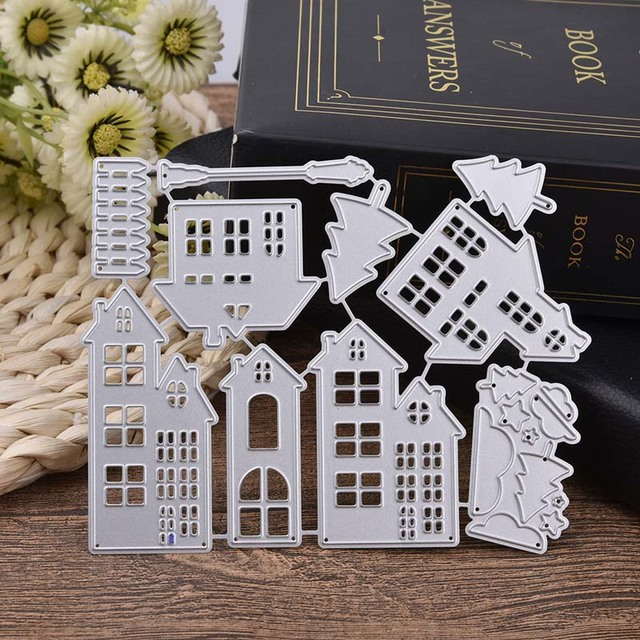 Architecture House metal cutting dies craft new 2018 Embossing Scrapbooking clear stamps for card making decor box dies troquel