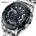 Longbo relógio de pulso 2017 relógio de quartzo homens top marca de luxo famoso relogio masculino de aço relógio de pulso masculino relógio para homens hodinky