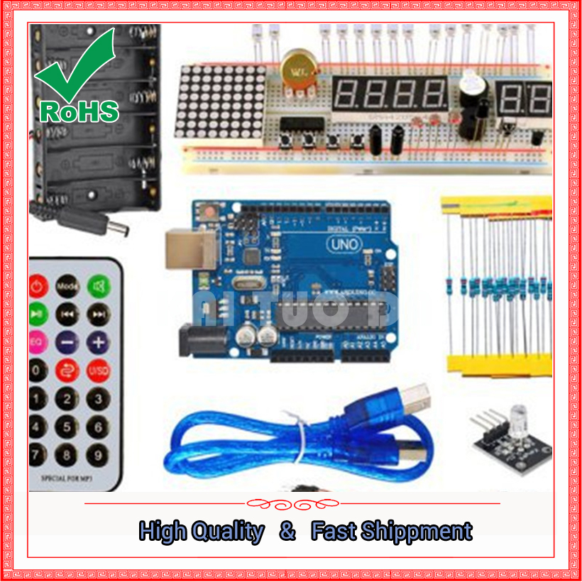 basic entry learling set the latest UNO R3 motherboard entry set 28 kinds pavkage module