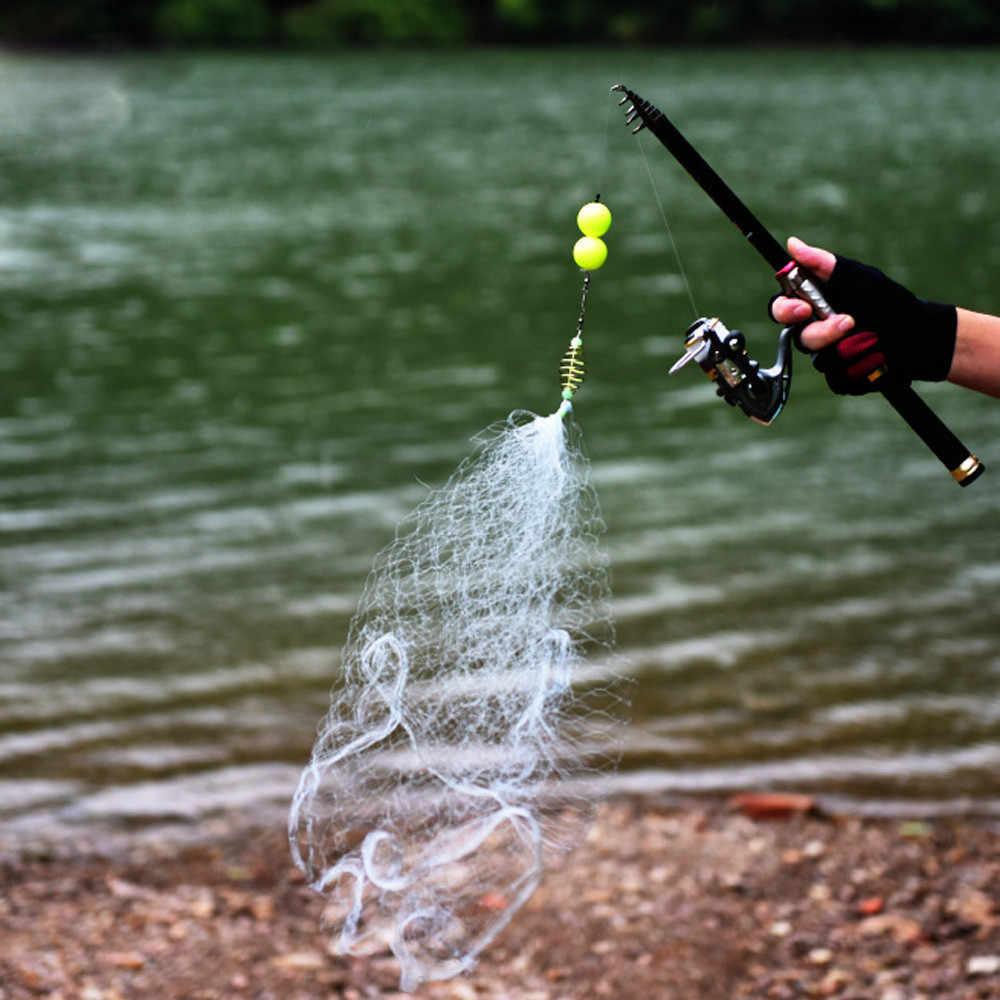 JCXAGR Рыболовная Ловушка Сеть Нейлоновая рыболовная сеть маленькая сетка рыболовное оборудование с держателем приманки клетки Fly Fish Minnow Pesca Armadilha TN
