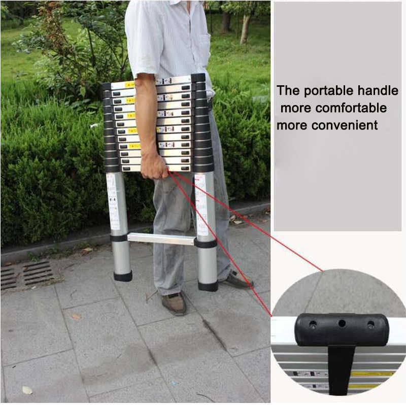 Portable Telescopic Ladder 3.8m 12.5FT Multifunction A Word of Aluminum Ladders