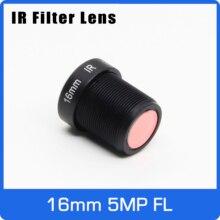 Lente câmera de ação 5 megapixels, 16mm m12 ir filtro 1/2 polegadas visão de longa distância para eken sjcam xiaomi yi câmera gopro hero sport