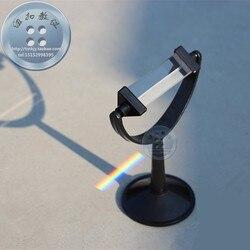 Pryzmat optyczny fizyki eksperyment nauczania instrument profesjonalny szkło lustro 8 cm długości 2.5 cm szerokość fizyczne narzędzia darmowa wysyłka